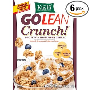 6-Pack 15 Oz Kashi GoLean Crunch! Cereal $13 @Amazon