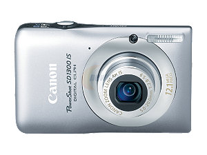 "$109 for Canon PowerShot SD1300 IS Silver 12.1 MP 2.7"" 230K LCD 4X Optical Zoom"