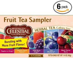 Amazon: 18-Count Tea Bags (Pack of 6) Celestial Seasonings Fruit Tea Sampler $8.73