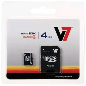 $4.99 V7 4GB Class 2 microSDHC Card @Mwave