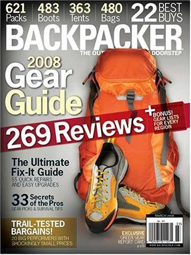 Backpacker Magazine subscription 3 years $9.99 at Discount Magazines