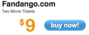 2 Fandango Movie Tickets $9 @Living Social