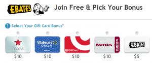 Ebates Sign up Bonus