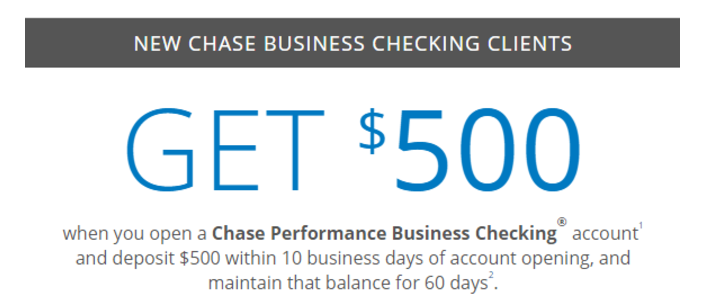 Chase $500 Coupon – Checking, Savings, & Business