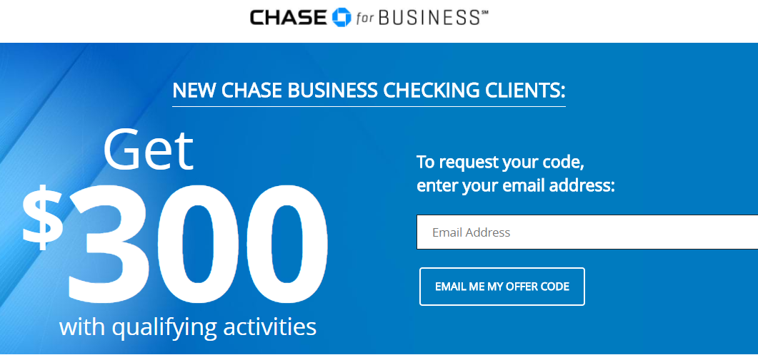 Chase Business Checking $300 Bonus